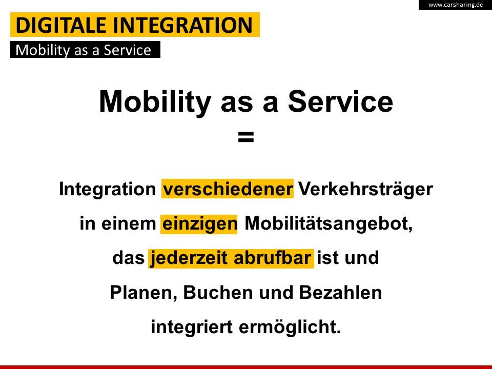 """Definition """"Mobility as a Service"""" (Quelle: bcs)"""